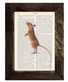 mouse on vintage page