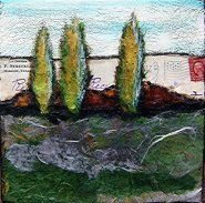 trees mixed media piece